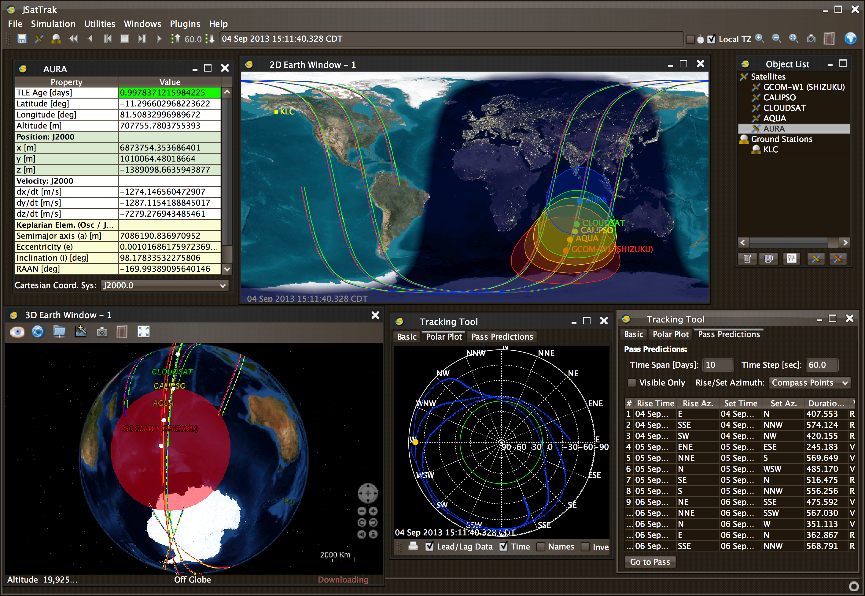Jsattrak java satellite tracker by shawn gano latest v415 interface gumiabroncs