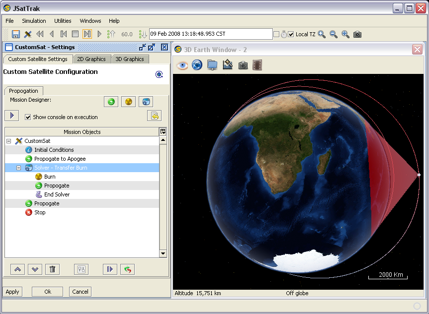 Jsattrak java satellite tracker by shawn gano screenshots gumiabroncs Gallery